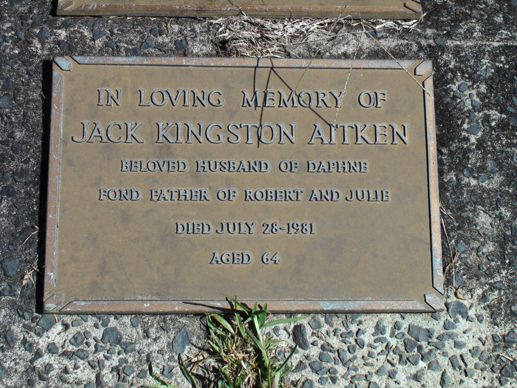 This image has an empty alt attribute; its file name is 19810728-Aitken-Jack-grave-1024x768.jpg